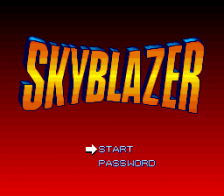 Skyblazer title screenshot