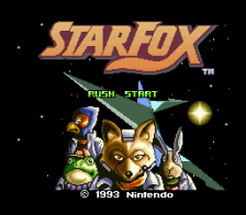 Star Fox title screenshot