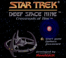 Star Trek - Deep Space Nine - Crossroads of Time title screenshot