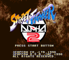 Street Fighter Alpha 2 title screenshot