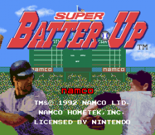 Super Batter Up title screenshot