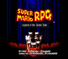 Super Mario RPG - Legend of the Seven Stars title screenshot