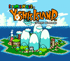 Super Mario World 2 - Yoshi's Island title screenshot