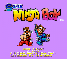 Super Ninja Boy title screenshot