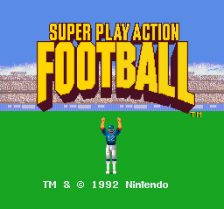 Super Play Action Football title screenshot