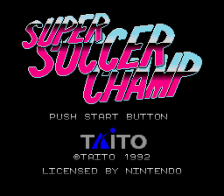 Super Soccer Champ title screenshot