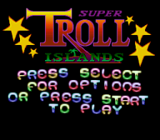 Super Troll Islands title screenshot