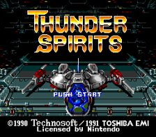 Thunder Spirits title screenshot