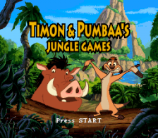Timon & Pumbaa's Jungle Games title screenshot