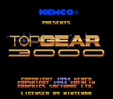 Top Gear 3000 title screenshot