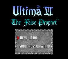 Ultima VI - The False Prophet title screenshot