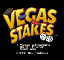 Vegas Stakes title screenshot