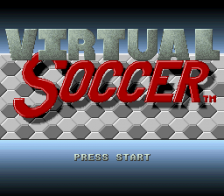 Virtual Soccer title screenshot