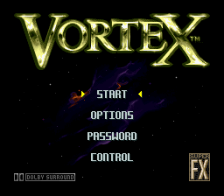 Vortex title screenshot
