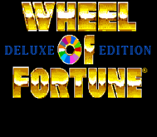 Wheel of Fortune - Deluxe Edition title screenshot