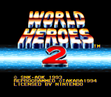 World Heroes 2 title screenshot