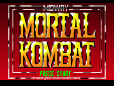 Mortal Kombat title screenshot