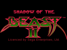 Shadow of the Beast II title screenshot