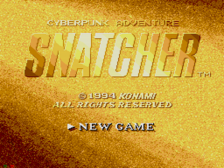 Snatcher title screenshot