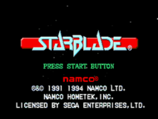 Star Blade title screenshot