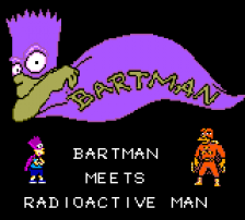 Bartman Meets Radioactive Man title screenshot