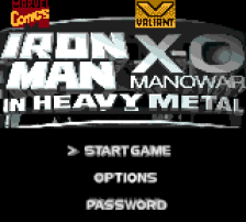 Iron Man X-O Manowar in Heavy Metal title screenshot