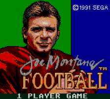 Joe Montana's Football title screenshot