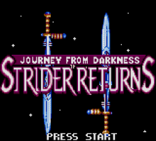 Journey from Darkness - Strider Returns title screenshot