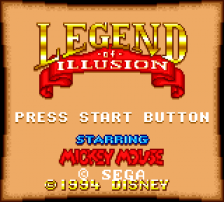Legend of Illusion Starring Mickey Mouse title screenshot