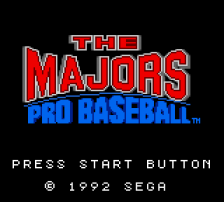 Majors Pro Baseball, The title screenshot