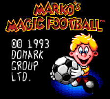 Marko's Magic Football title screenshot