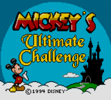 Mickey's Ultimate Challenge title screenshot
