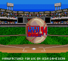 R.B.I. Baseball '94 title screenshot