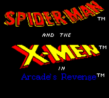 Spider-Man and the X-Men in Arcade's Revenge title screenshot