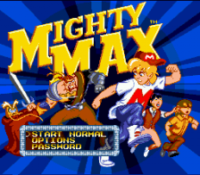 Adventures of Mighty Max, The title screenshot