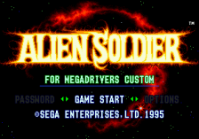 Alien Soldier title screenshot