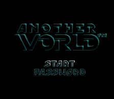 Another World title screenshot