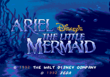 Ariel the Little Mermaid title screenshot