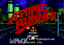 Atomic Runner title screenshot