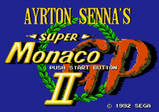 Ayrton Senna's Super Monaco GP II title screenshot