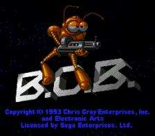 B.O.B. title screenshot