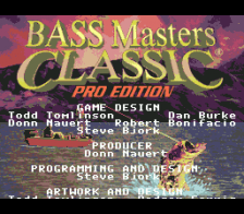 Bass Masters Classic - Pro Edition title screenshot