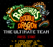 Battletoads and Double Dragon title screenshot