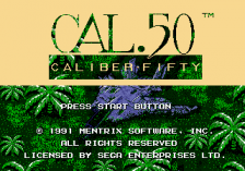 Caliber.50 title screenshot