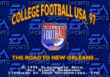 College Football USA 97 title screenshot