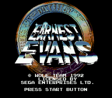 Earnest Evans title screenshot