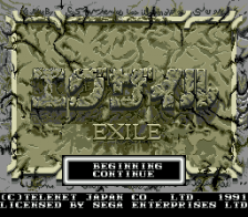 Exile title screenshot