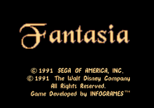 Fantasia title screenshot