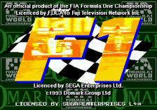 Formula One title screenshot