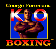 George Foreman's KO Boxing title screenshot
